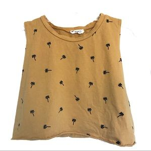 Palm Tree Printed Tank - French Pastry